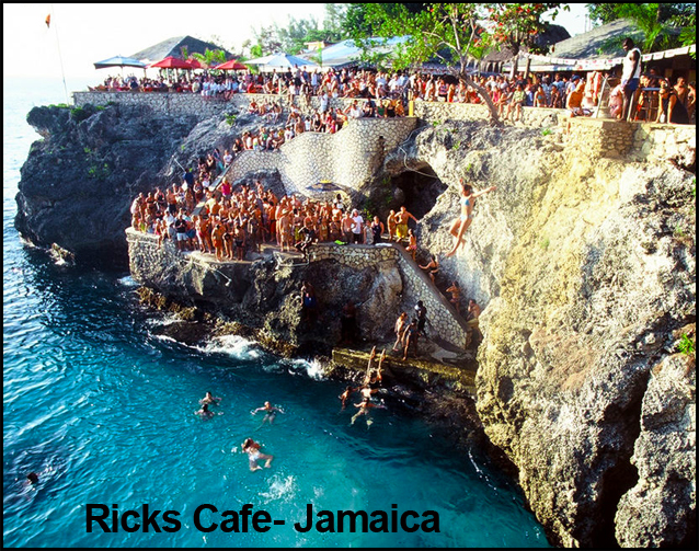 Spring Break Cliff Jumping at Rick's Cafe