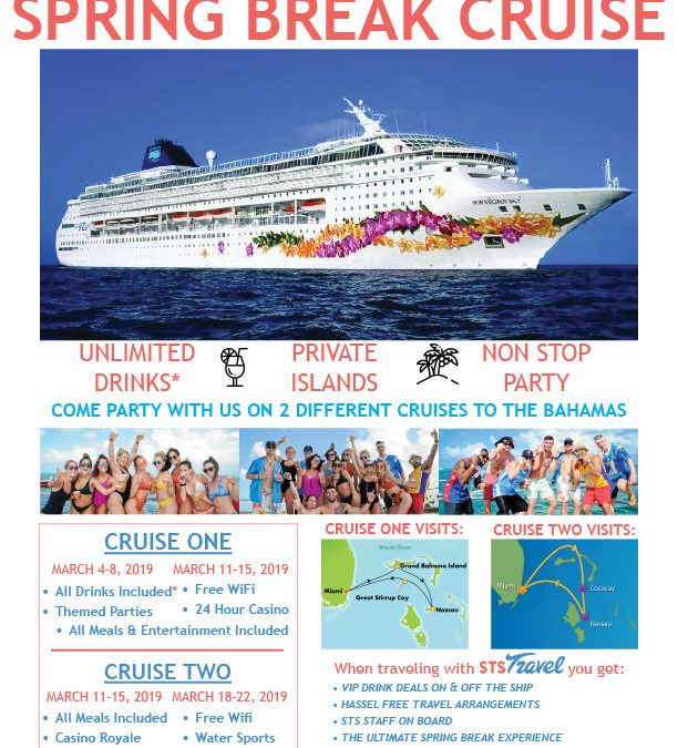 Spring Break Party Cruise Every Week in March