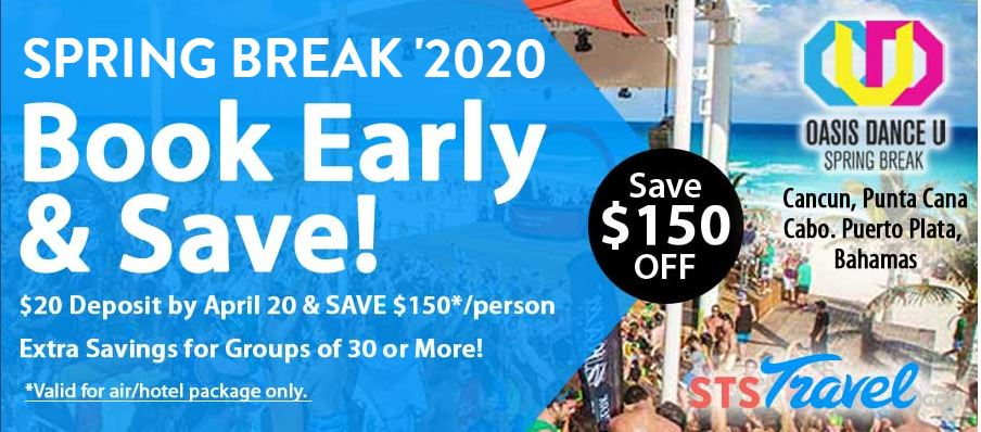 Spring Break 2020 Campus Rep: Sell Trips, Earn cash and Go Free! Book Early and Save!